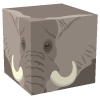 箱式アフリカゾウ